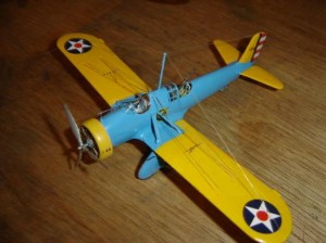 """Um dos meus últimos modelos da """"era madura"""" do Plastimodelismo: Curtiss A-12, vacuforming da marca Rareplanes, com extenso scratch no interior."""